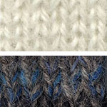 Swatch of Aran's White and Alfalfa's Blue Note