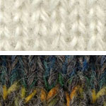 Swatch of Aran's White and Black Angel's Emerald Isle