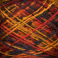 Swatch of Wool Jewels - Fire Opal Colorway